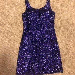 Dresses & Skirts - Purple sequins dress